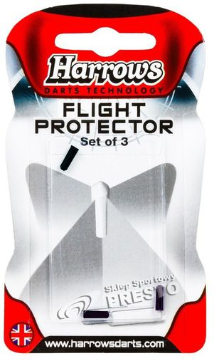 Harrows Nakładki na piórka do dart Flight Protector Harrows czarny uniw - 128