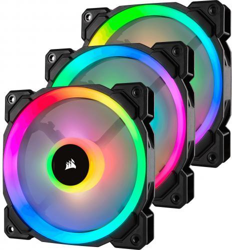 Corsair wentylator LL120 RGB LED Static Pressure, 120 mm, PWM, trójpak (CO-9050072-WW)