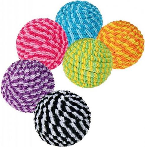Trixie piłka kolorowa ze sznurka 4,5cm TX4570