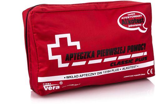 Apteczka Vera Apteczka samochodowa z alkotestem Classic Plus Vera  uniw - 5903292661018