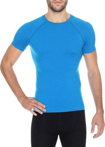 Brubeck Koszulka męska Merino Active Wool niebieska r. L (SS11710)