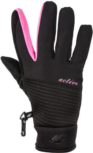4f Rękawice zimowe damskie H4Z17-RED002 czarne r. L