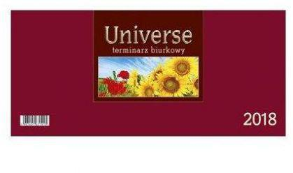 CRUX Kalendarz 2018 Biurkowy Universe, bordowy