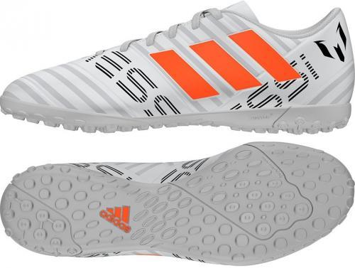 Adidas Buty piłkarskie Nemeziz Messi 17.4 TF biało-szare r.  44 (S77205)