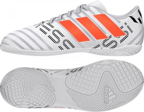 58411f49776f37 Adidas Buty piłkarskie Nemeziz Messi 17.4 Indoor Boots Junior biało-szare  r. 29 (. Cena: