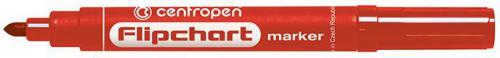 Centropen marker czerwony do flipchartów okrągła końcówka 2,5mm (585500104)