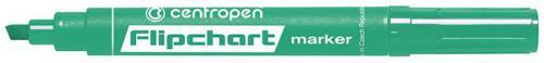 Centropen marker zielony do flipchartów ścięta końcówka 2,5mm (585600110)