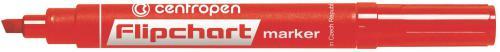 Centropen marker czerwony do flipchartów ścięta końcówka 2,5mm (585600104)