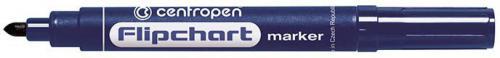 Centropen marker niebieski do flipchartów okrągła końcówka 2,5mm (585500106)