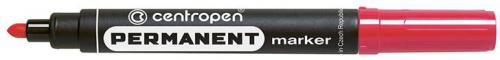 Centropen marker czerwony permanentny okrągła końcówka 2,5mm (585660104)