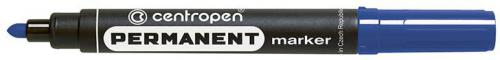 Centropen marker niebieski permanentny okrągła końcówka 2,5mm (585660106)