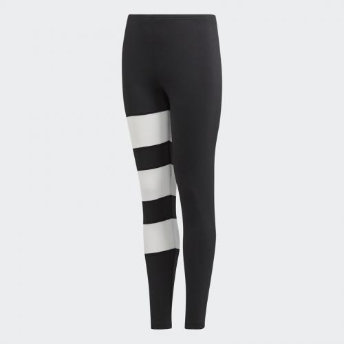 Adidas Legginsy dziecięce EQT LEGGINGS czarno białe r. 158 cm (BQ4016)
