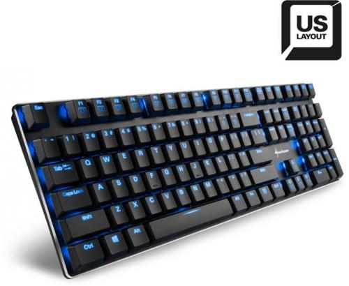 Klawiatura Sharkoon PureWriter Low Profile Kailh Blue US (NTZS6E0)