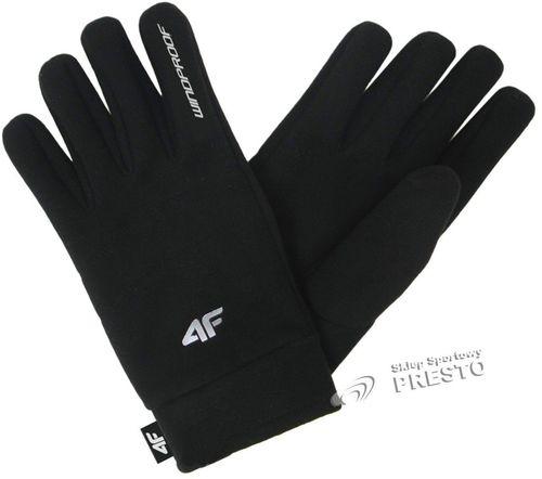 4f Rękawice unisex Windproof czarne r.  M/L (REU001)