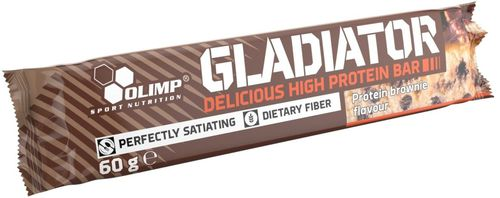 OLIMP Baton Gladiator Delicious High Protein Bar 60g Brownie Olimp Brownie uniw - 5901330050695
