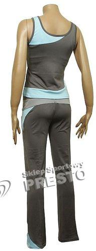 351e5eb4798c2e Outhorn Komplet fitness koszulka Rewia + spodnie Naomi szaro ...