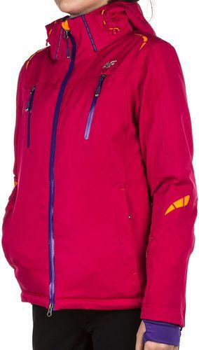 4f Kurtka narciarska damska KUDN002 10.000 różowo fioletowo pomarańczowa r. M
