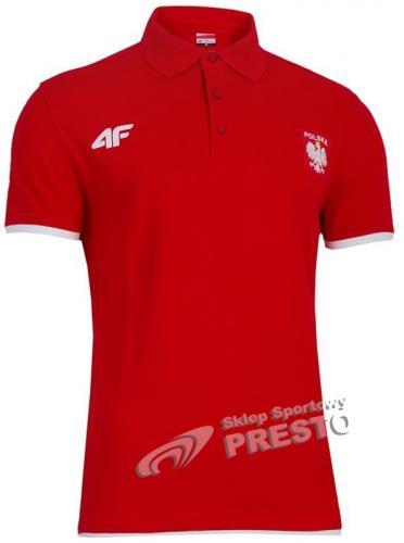 4f Koszulka polo męska Kolekcja Olimpijska Londyn 2012 czerwona r. M (TSM902)