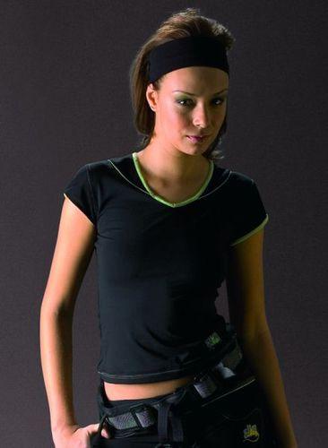 4f Koszulka damska fitness Akra czarna r. L