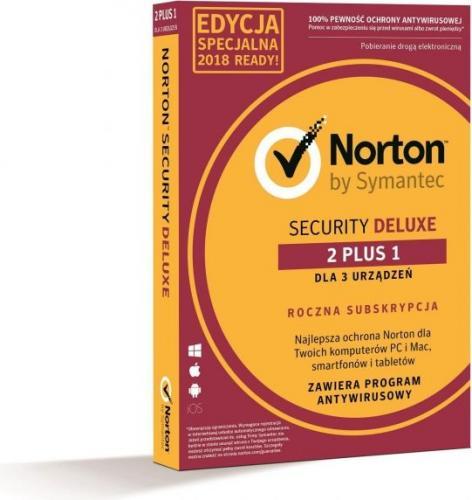Symantec Norton Security Deluxe 3.0 PL 2 Urządzenia + 1 GRATIS 1 Rok (21378603)