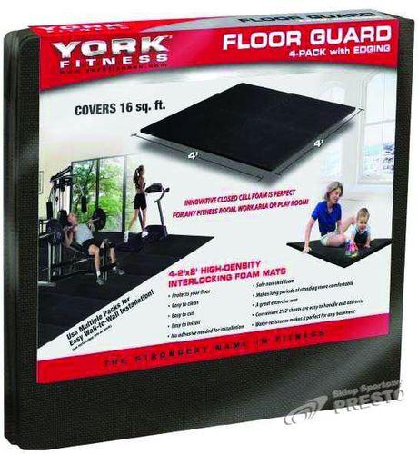York Fitness Modułowa wykładzina podłogowa puzzle 126x126cm York Fitness  uniw - 2000091012129