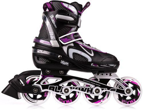 Blackwheels Rolki regulowane Flex Black/Purple r. 35-38