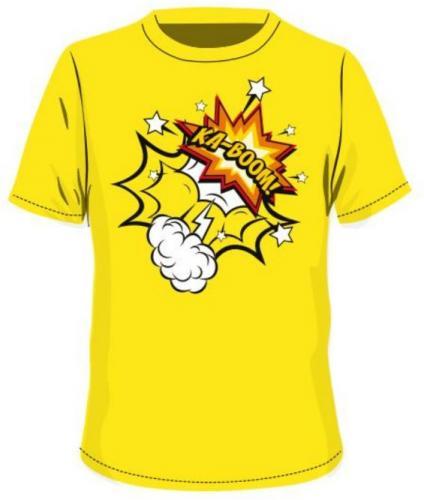 BEJO Koszulka dziecięca  BOOM KIDSB Blazing Yellow r. 128