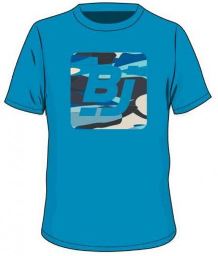 BEJO Koszulka dziecięca  z logo BJ Hawaiian Ocean niebieska r. 128