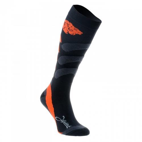 Iguana Skarpety męskie SAURI Black/ Fluo Orange r. 44-47