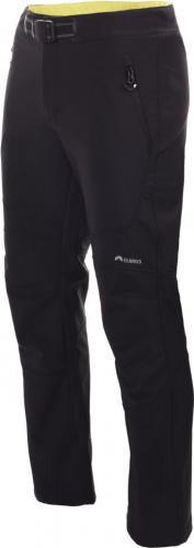 Elbrus Spodnie ocieplane męskie SOFTSHELL LELAND Black Onyx/ Poison Green r. L