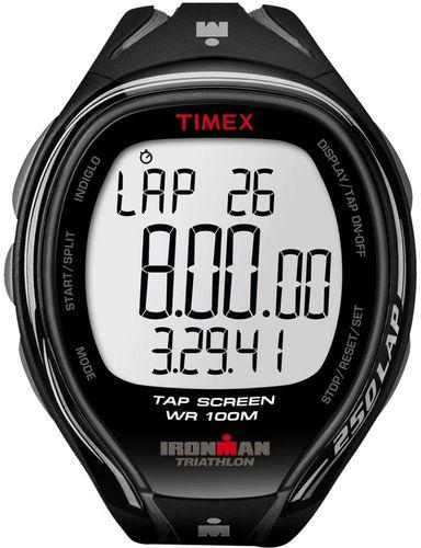 Timex Zegarek sportowy Ironman Sleek-250 LAP TAPScreen T5K588 Men Timex czarny uniw - 753048401857