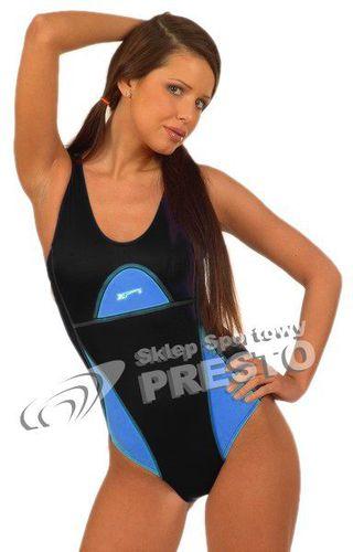 Shepa Kostium pływacki chloroodporny 024 czarno-niebieski S - 2000010066179