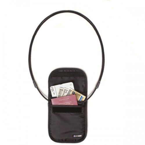 Pacsafe PouchSafe 100 paszportówka na szyję czarny uniw - 2000091025884