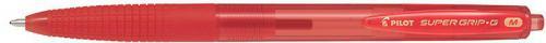 Pilot Długopis automatyczny Super Grip, czerwony (PIBPGG-BR-F-RR)