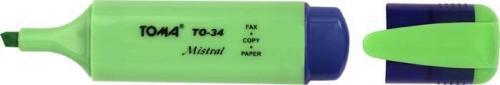 Toma zakreślacz textmarker toma mistral zielony  (TO-334ZIEL)
