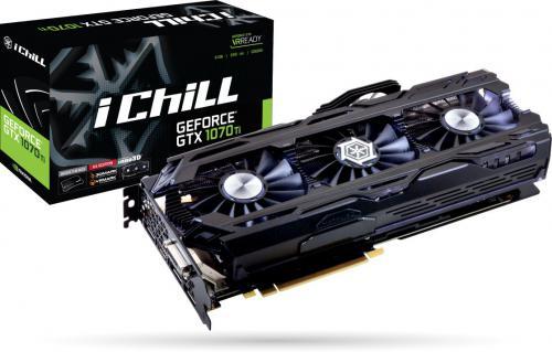 Karta graficzna Inno3D GeForce GTX 1070 Ti iChill X4 8GB GDDR5 (256 bit) DVI-D, HDMI, 3xDP, BOX (C107T4-1SDN-P5DN)
