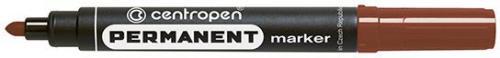 Centropen Marker Brązowy Permanentny Okrągła Końcówka 2.5 mm (8566/04)