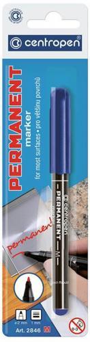 Centropen Marker Niebieski Permanentny Okrągła Końcówka 1.00 mm (2846/06)
