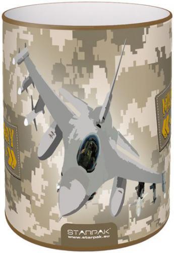 Piórnik Starpak Metalowy pojemnik na przybory Military