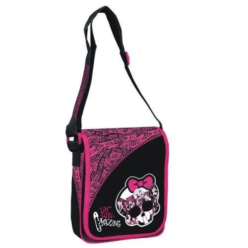 Starpak Torba z klapką Monster High czarno-różowa (MH T Z KLA)