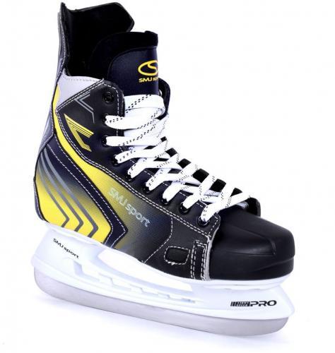 SMJ sport Łyżwy hokejowe Vancouver czarno-żółte