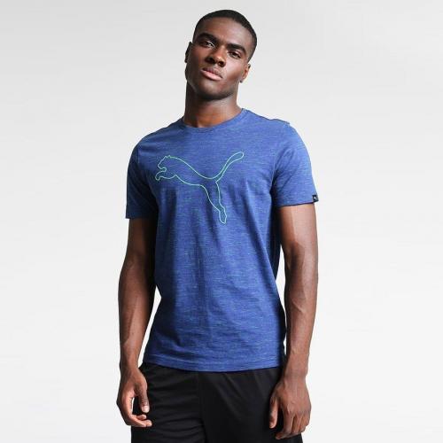 Puma Koszulka męska Essential SS Tee L niebieska r. M (515185 13)