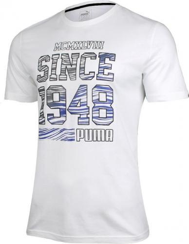Puma Koszulka męska Fun Summer Logo Tee biała r. S (836592 02)