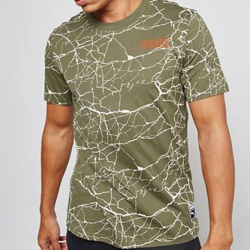 Puma Koszulka męska Record Tee zielona r. L (573197 14)