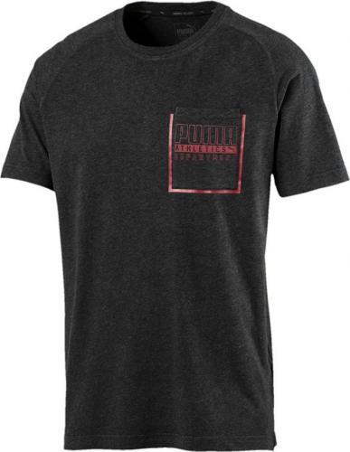 Puma Koszulka męska STYLE Pocket Tee grafitowo czerwona r. L (592513 07)