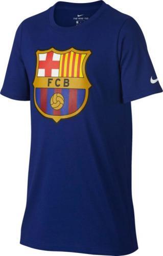 Nike Koszulka dziecięca FCB NK Tee Evergreen Crest niebieska r. XL (898629 455)