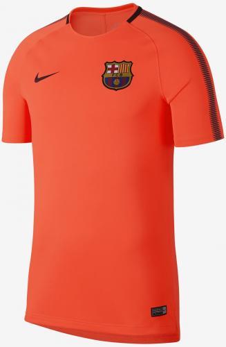 Nike Koszulka męska FCB M BRT SQD Top SS pomarańczowa r. S (854253 813)