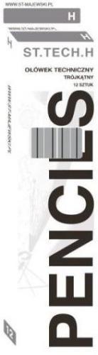 St. Majewski Ołówek Techniczny Trójkątny H p12 (5903235202322)