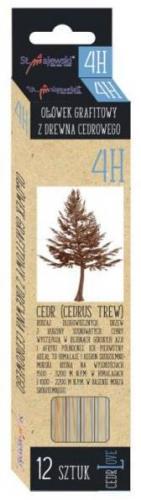 St. Majewski Ołówek Sześciokątny Cedrowy 4H Cerd Love p12 (5903235202216)