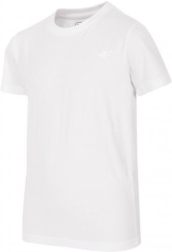 4f Koszulka Junior J4Z17-JTSM200 biała r. 146 cm